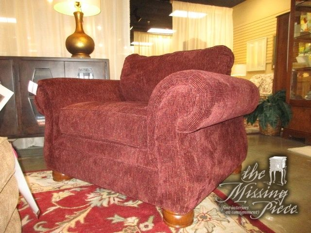 La-Z-boy traditional style arm chair in a wine colored upholstery on ...