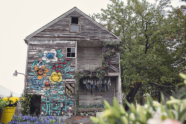 Lisa Waud Owner Of Floral Design Company Pot Box Is Turning An Abandoned Detroit Home Into A Flower House Abandoned Houses Detroit Houses Abandoned Detroit