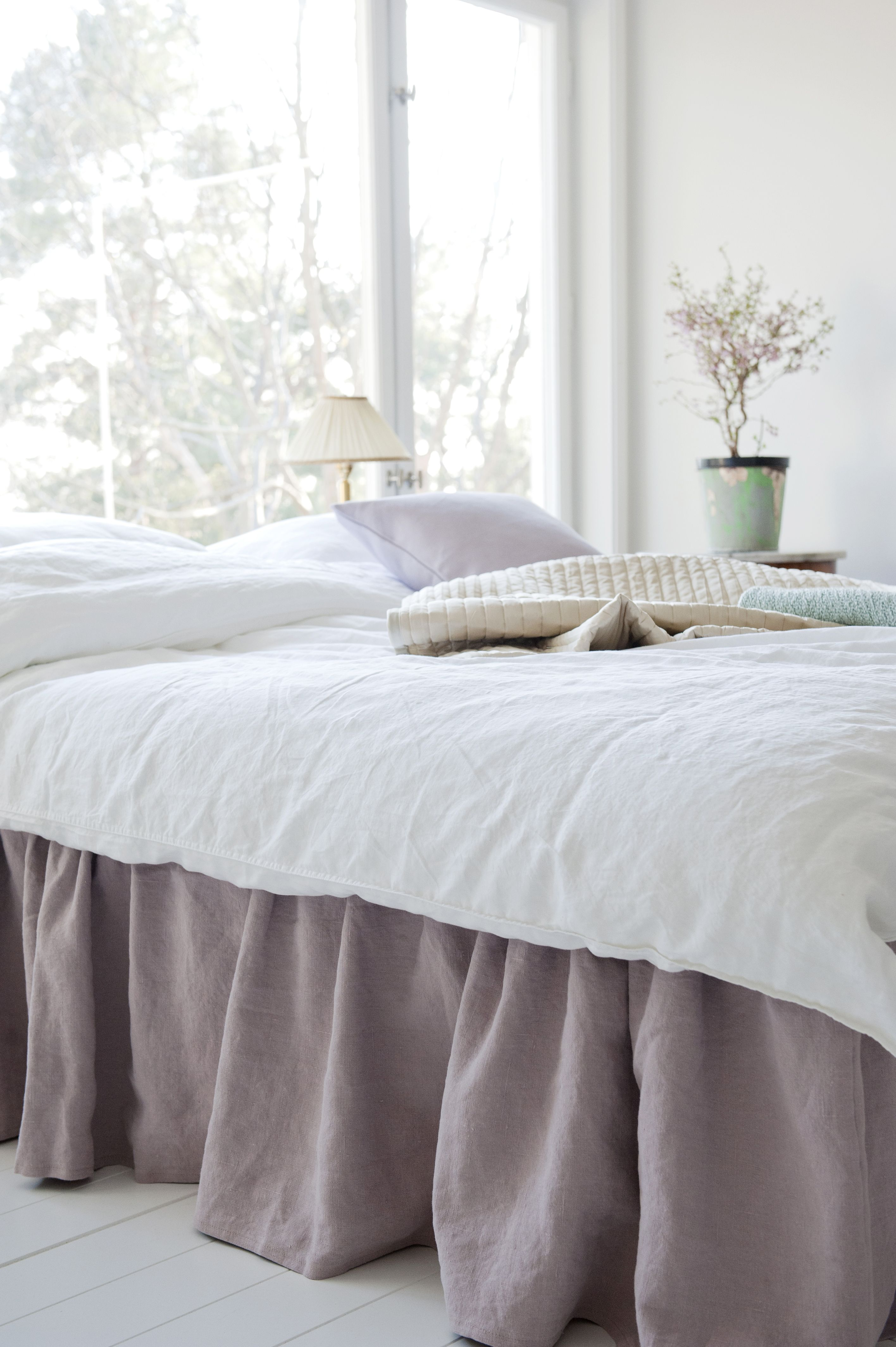 Bed Skirt, Loose Fit Country 80x200cm height 40cm ...