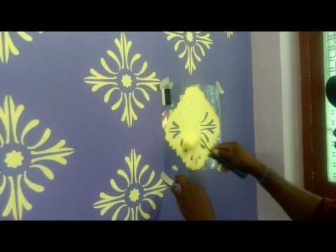 Asian Paint New Wall Passion Design 2016 Youtube Asian Paints Royale Asian Paints Stencil Painting