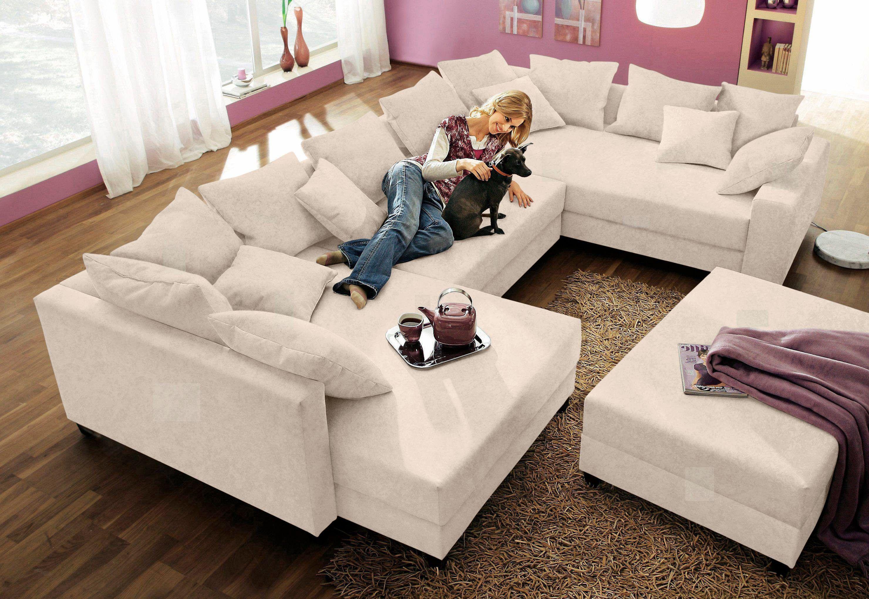 SAM Couch schwarz weiß Wohnlandschaft CIAO 205 x 355 x 250 cm