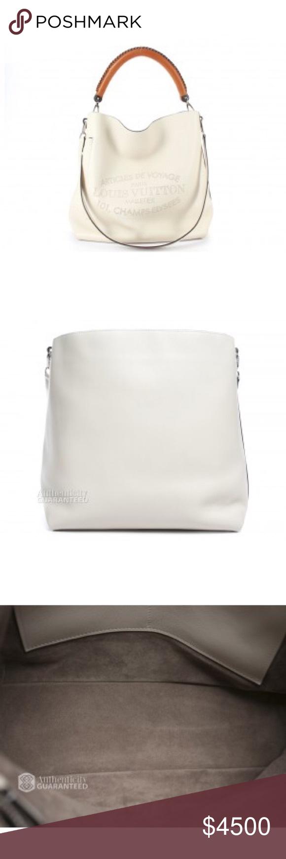 345fc2da60a1 Louis Vuitton Blanc Ivory Bagatelle Hobo Bag Blanc Leather