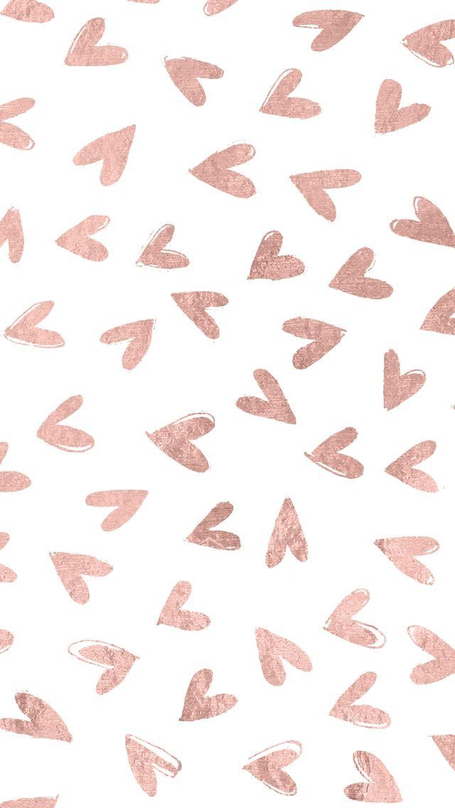 Delicate Elegant Yet Still Girly Enough And That S Why I M Loving This Wallpaper So Much Rose Gold Wallpaper Valentines Wallpaper Gold Wallpaper