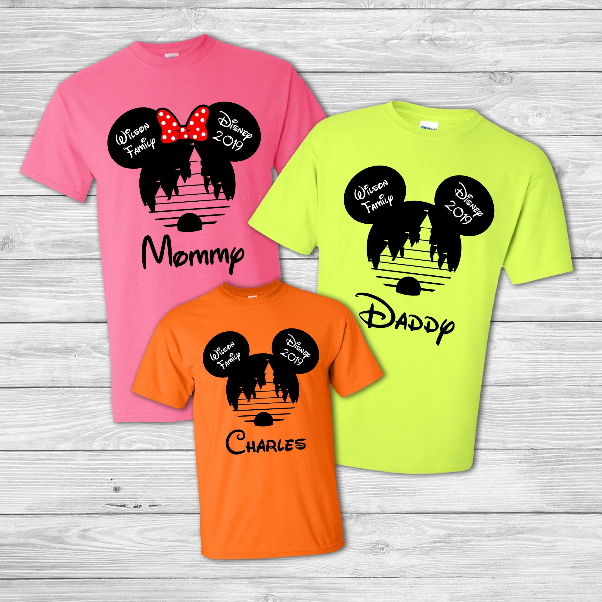 7466d9ad10298 Neon Couples Shirts - Family Vacation Disneyland Shirts in 2019 ...