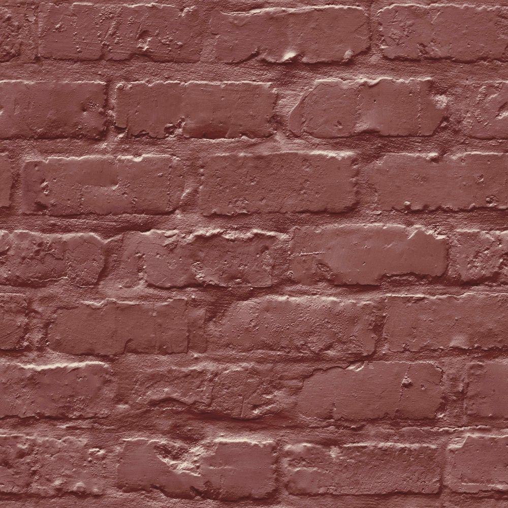 Grandeco Ideco Painted Brick Wall Pattern Faux Effect Motif Wallpaper A10403