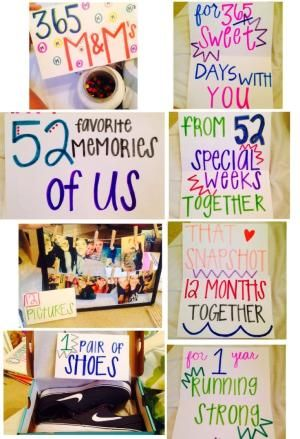 One year gift ideas for a boyfriend by janice I Do Pinterest