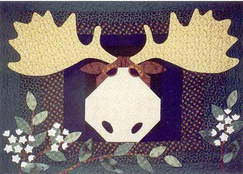 Moose Quilt On Pinterest