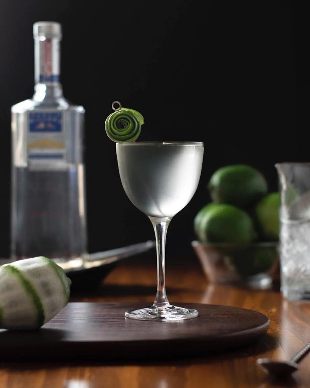 Easy MilkClarified Last Word cocktail recipe. Gin