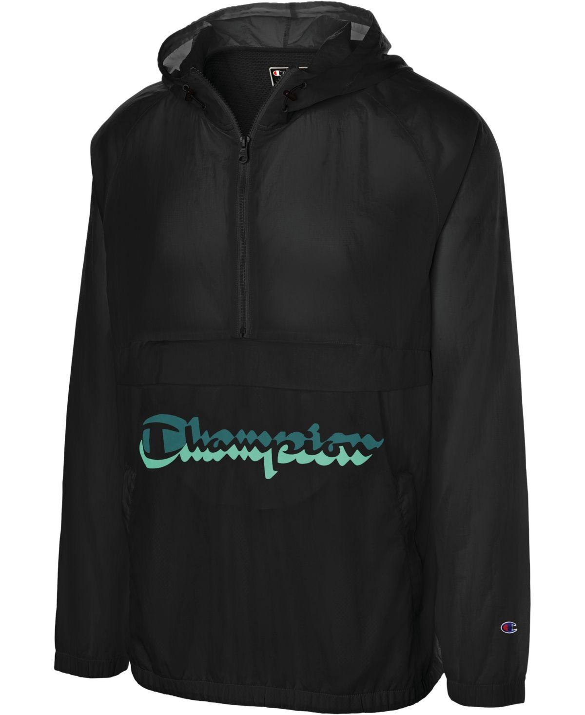 Champion Men S C Life Half Zip Hooded Jacket Hooded Jacket Jackets Leather Jacket