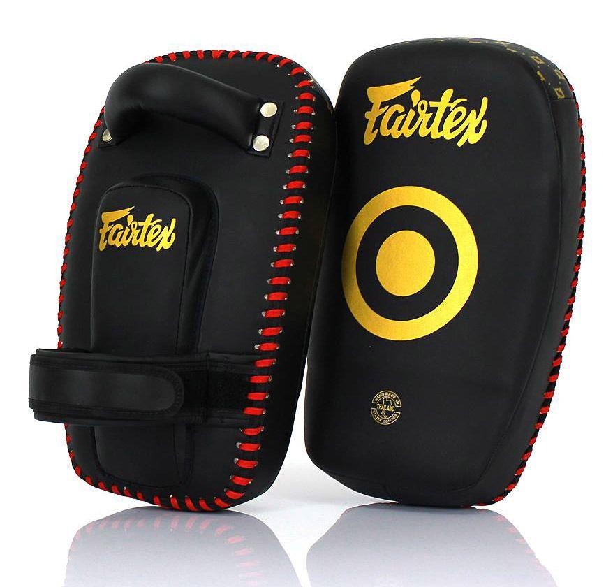 Fairtex Muay Thai MMA Kickboxing Training Curved Standard Kick Pads Pair