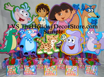 doratheexplorerbirthdaycenterpiecedecorationshandmadesupplies