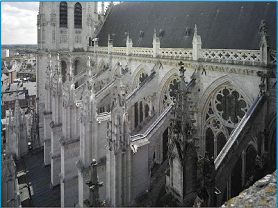 Dark Gothic Architecture Flying Buttress Image