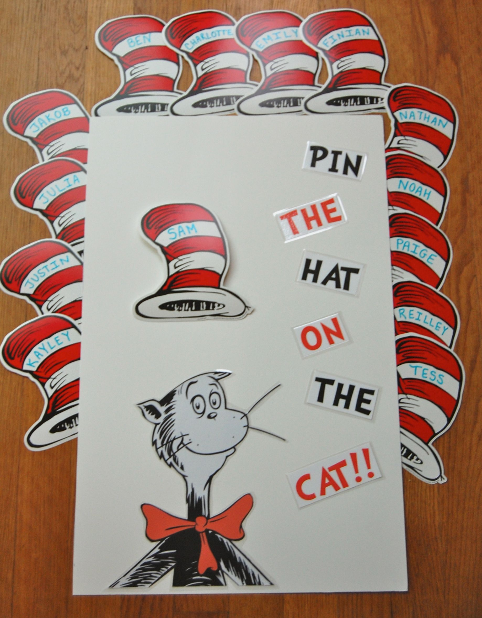 Pin The Hat On The Cat Game That I Made For The Kiddos To