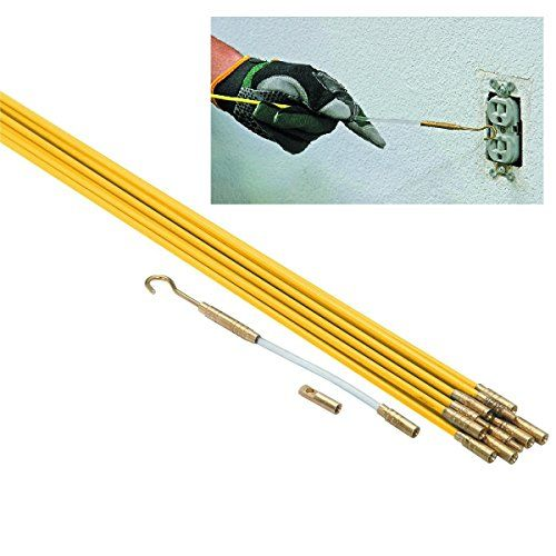 New 33 Ft X 3 16 In Brass Connectors Fiberglass Wire Run Kit Running Wire Through Walls Attics Crawl Spaces Sub Floors And Suspended Ceilings Home Liv Suspended Ceiling Running Wires Fiberglass