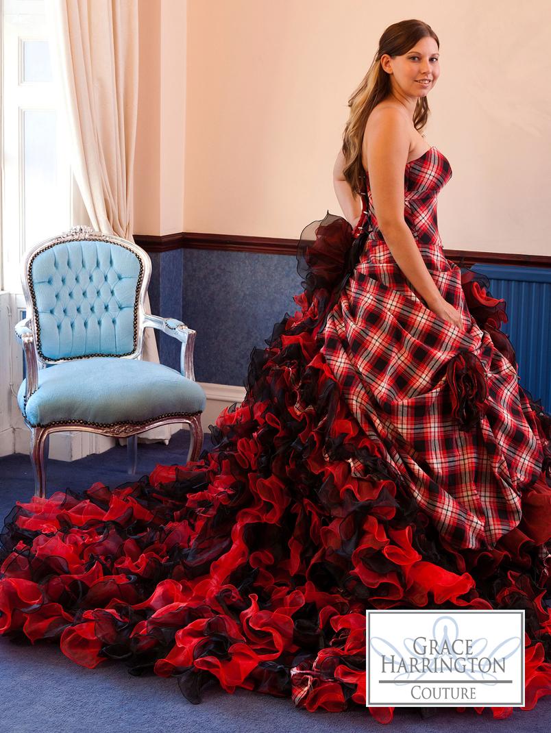 tartan wedding dress | wedding | pinterest