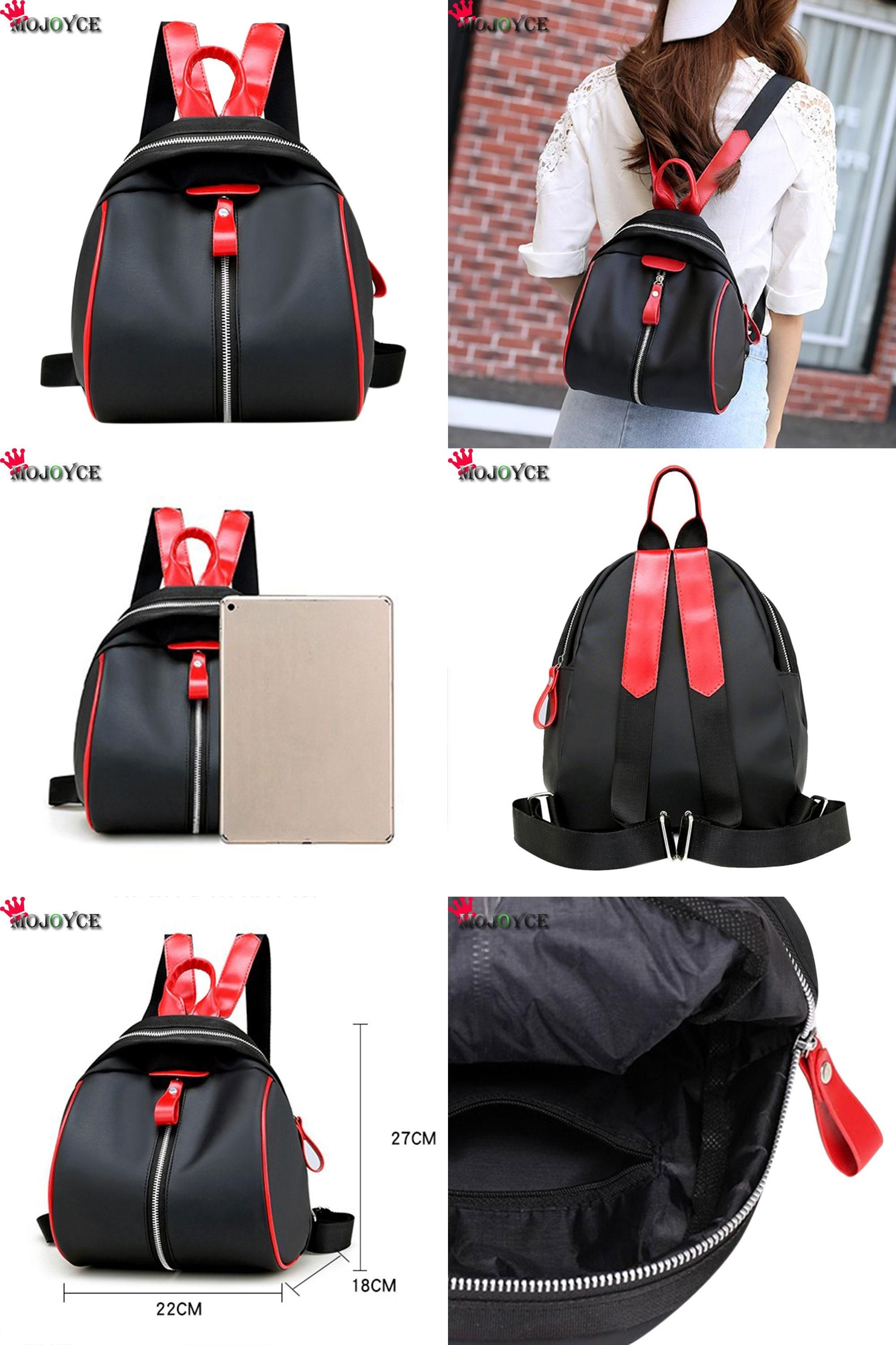 67616dc4eb  Visit to Buy  Small Waterproof Nylon Women Backpack Fashion Black Shoulder  Back Bag Preppy