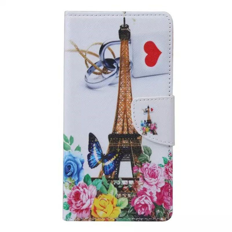 Flower Pattern Flip Case For huawei honor 4a PU Leather + Silicon Wallet Cover For huawei Y6 Case phone Coque Fundas Capa