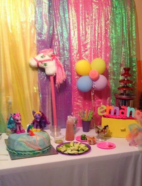 Decoraci n de fiesta de cumplea os de my little pony - Decoracion fiesta cumpleanos ...