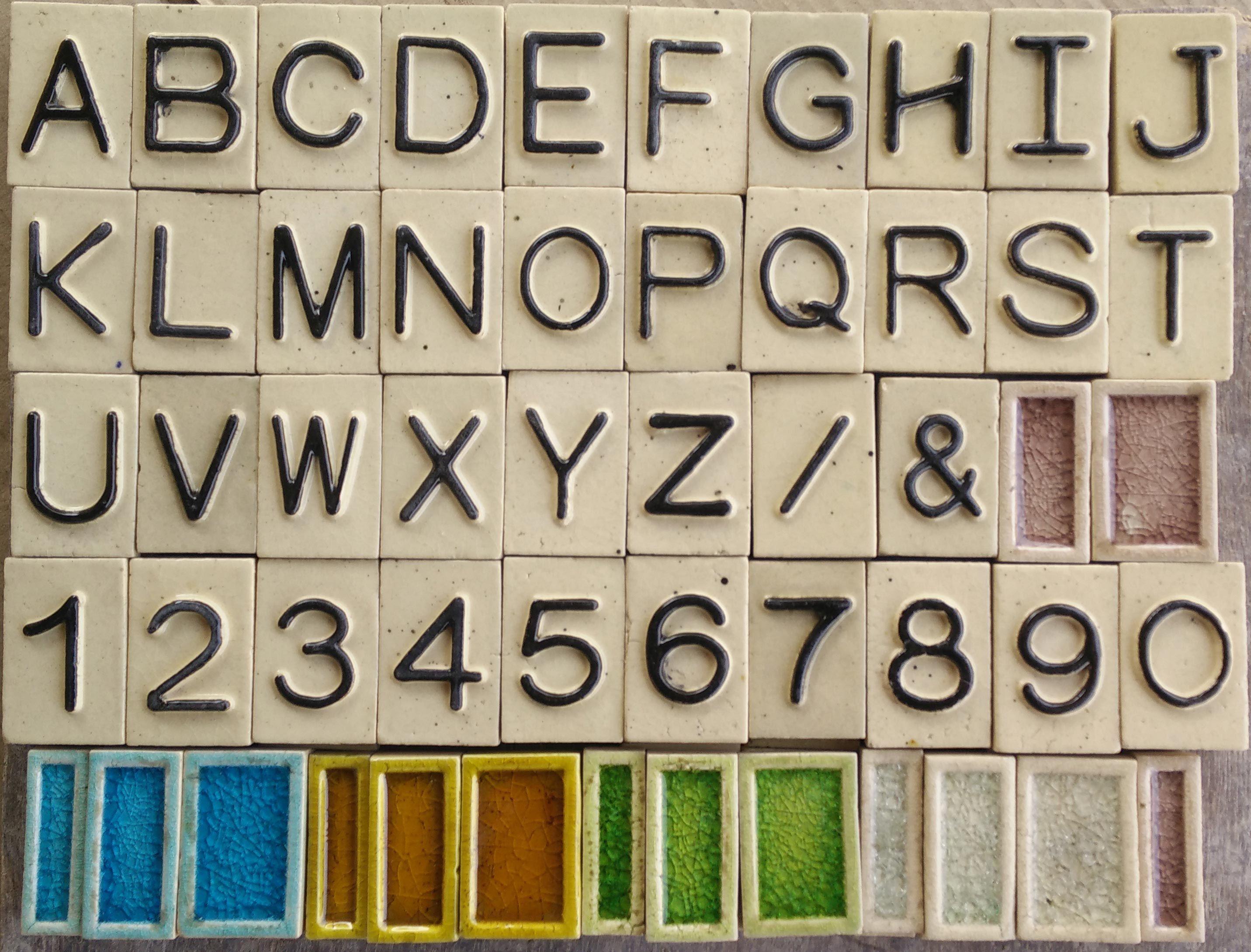 Pin By Vasto Tiles On Ceramic Handmade Alphabet Tiles Pinterest