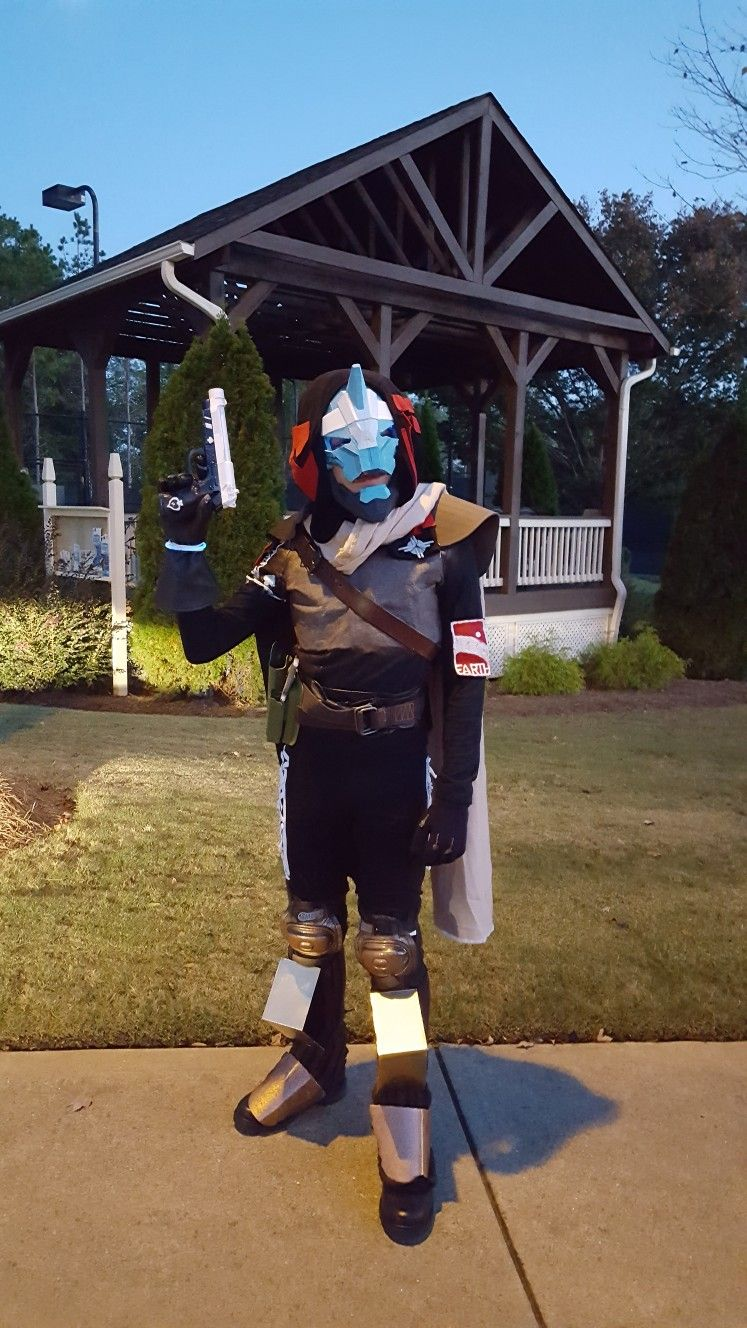 Brock as Cayde 6 from Destiny 2. I made the costume, Halloween ...