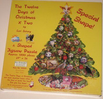 The Twelve Days of Chritmas X Two 1000 pc Jigsaw Puzzle Christmas