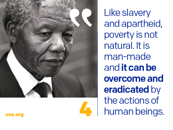 Quotes About Poverty Interesting 10 Powerful Quotes From Mandela's Make Poverty History Speech . 2017