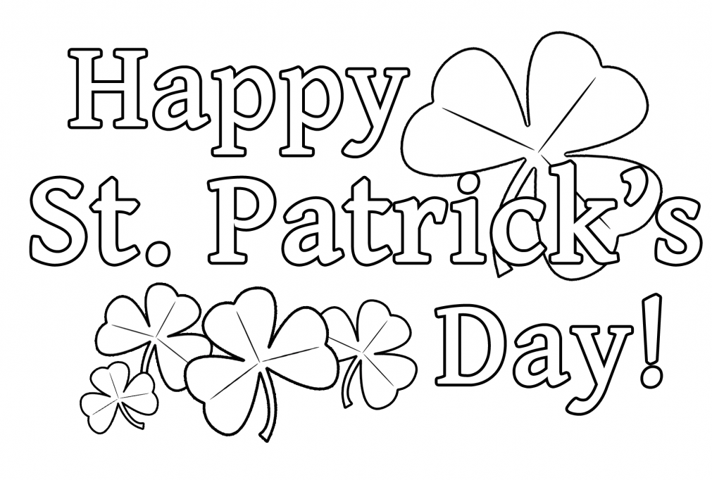 St patricks day coloring pages printable for kids | St. Patrick\'s ...