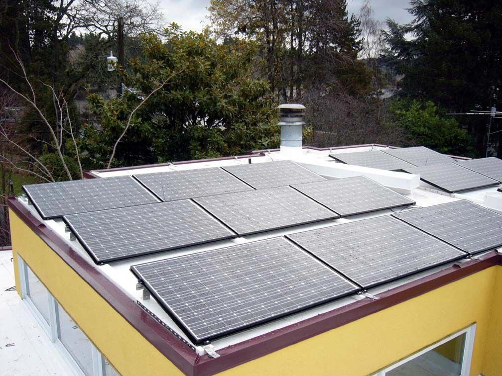 Solar On A Membrane Roof In 2020 Solar Panels Solar Panel Cost Photovoltaic Panels