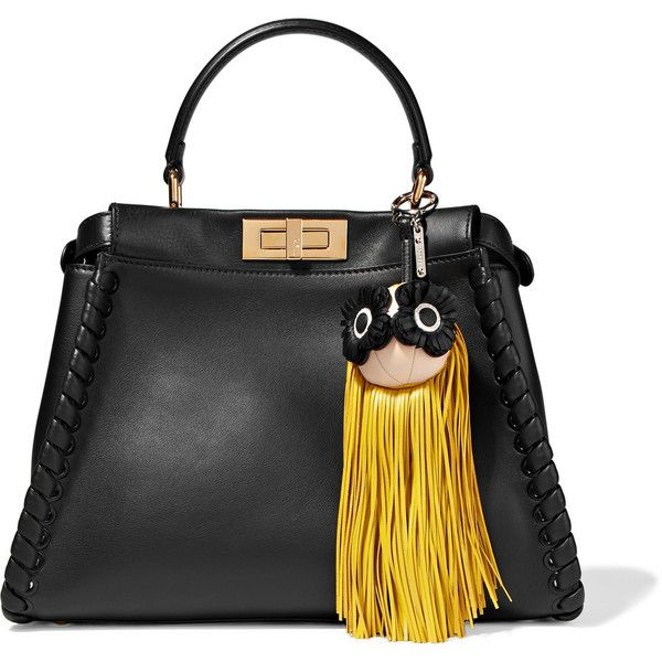 Fendi Fringed Leather Bag Charm - Yellow 2jfArGzab