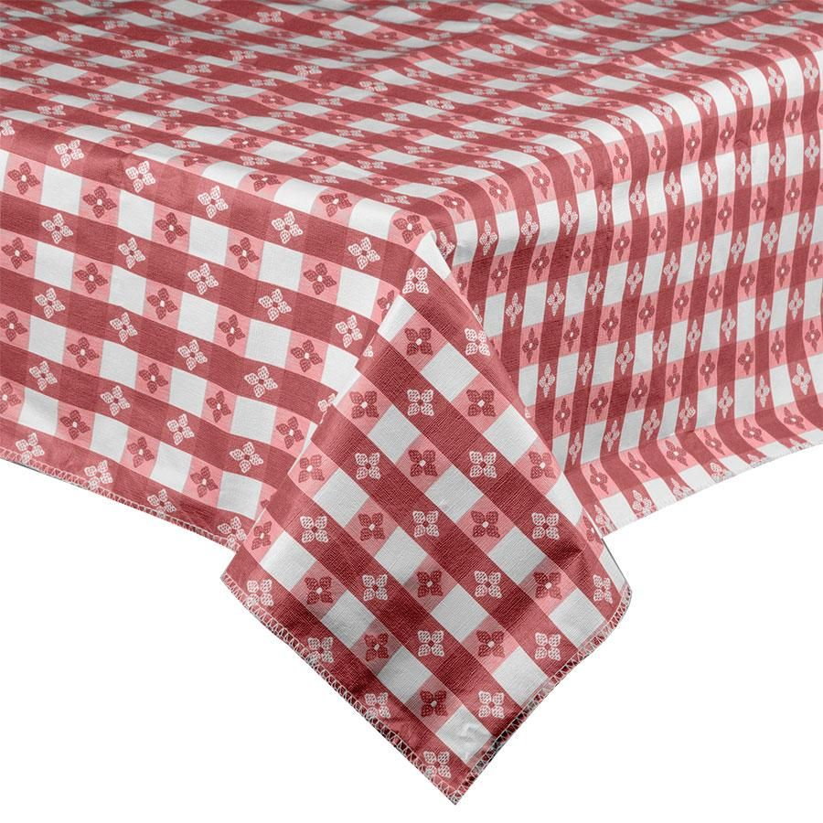 Intedge 52 X 52 Burgundy Checkered Gingham Vinyl Table Cover With Flannel Back Vinyl Table Covers Checkered Tablecloth Table Covers