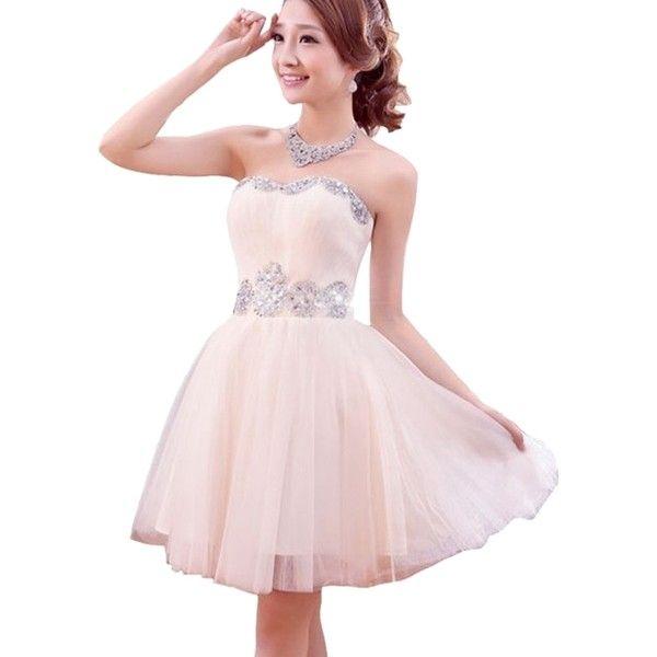 Diamond Pink Strappless Dresses