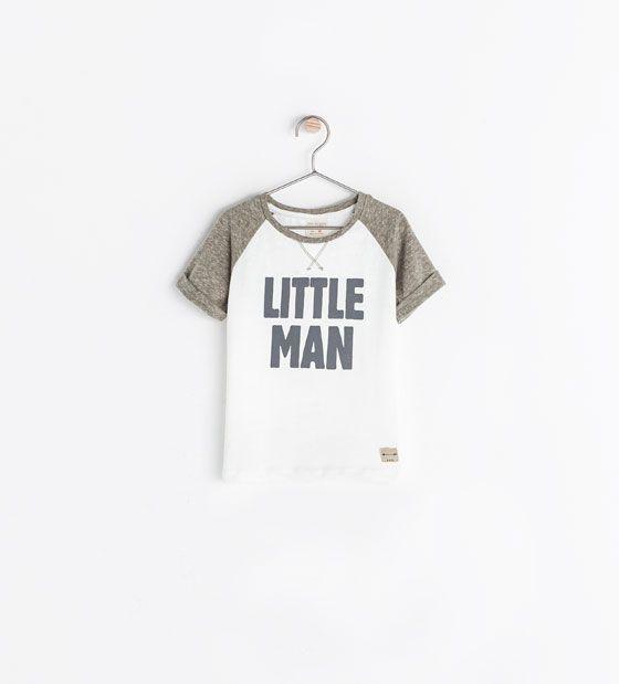 ZARA - NEW THIS WEEK - LITTLE MAN T-SHIRT