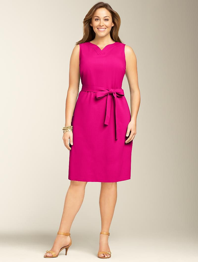 Talbots - Refined Ponte Knit Sheath | Dresses | Woman | Business ...