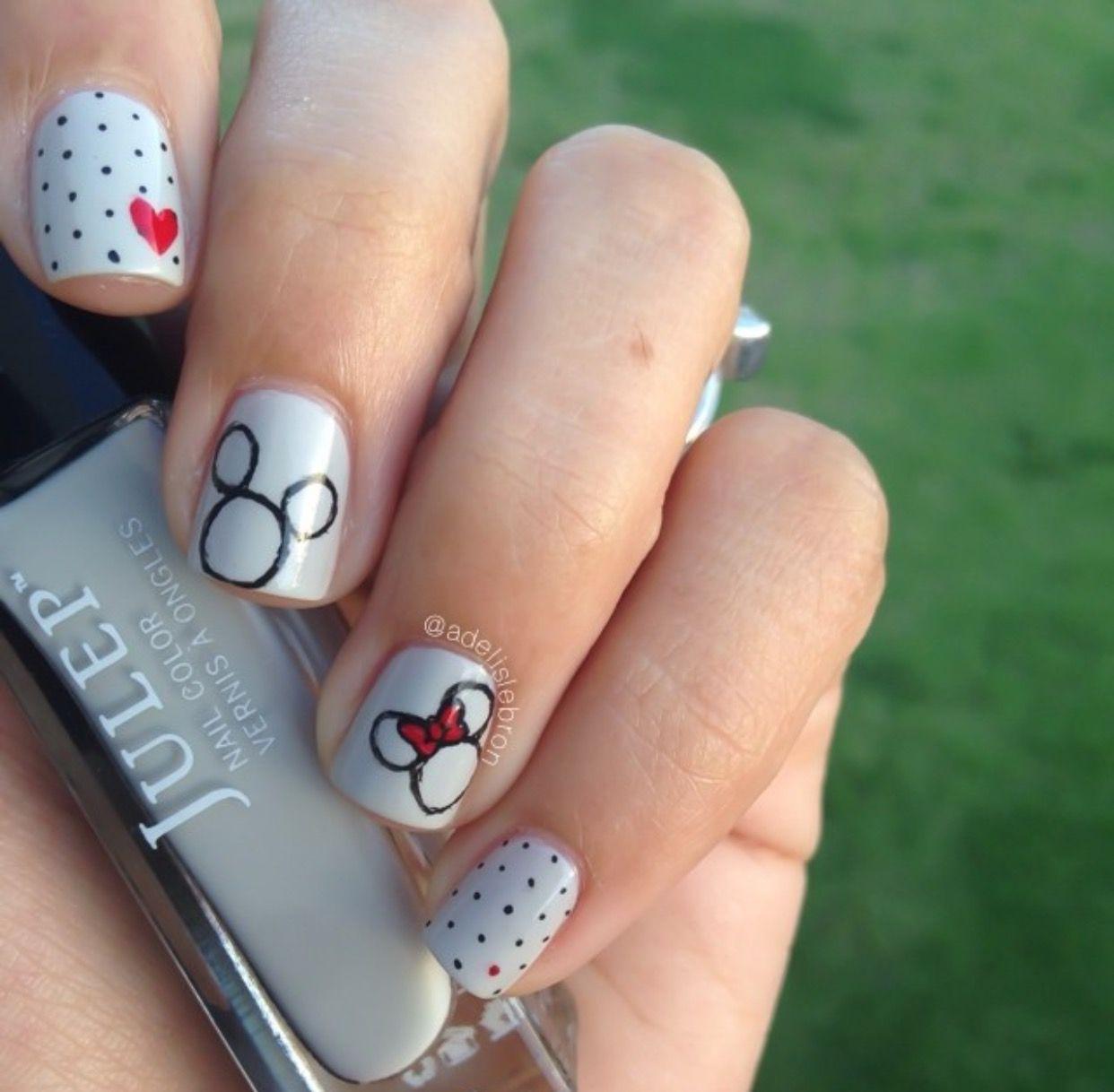 Cute Disney Nails Mickey Nails Disney Nails Disney Nail Designs