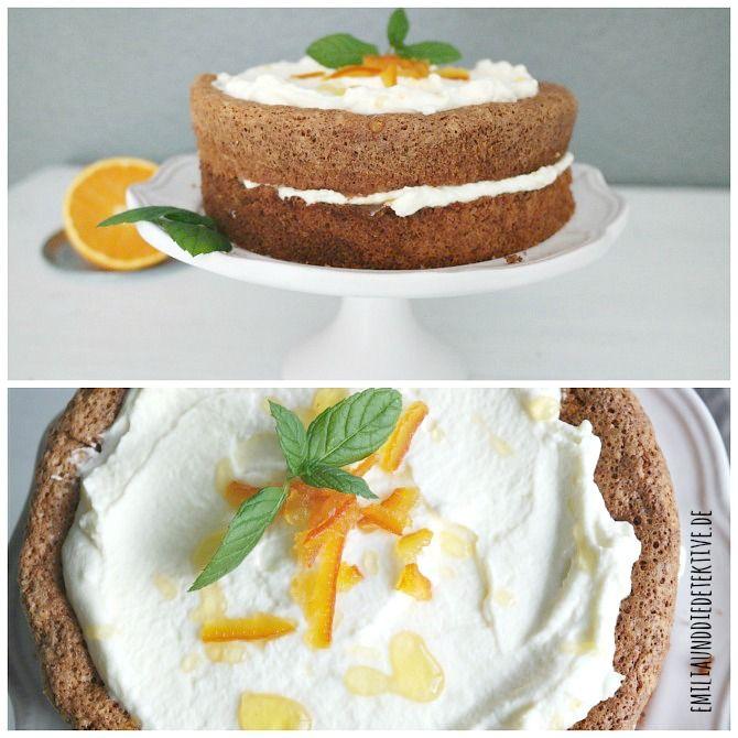 Orangen Mandel Torte Spanische Mandeltorte Mit Sahnefullung