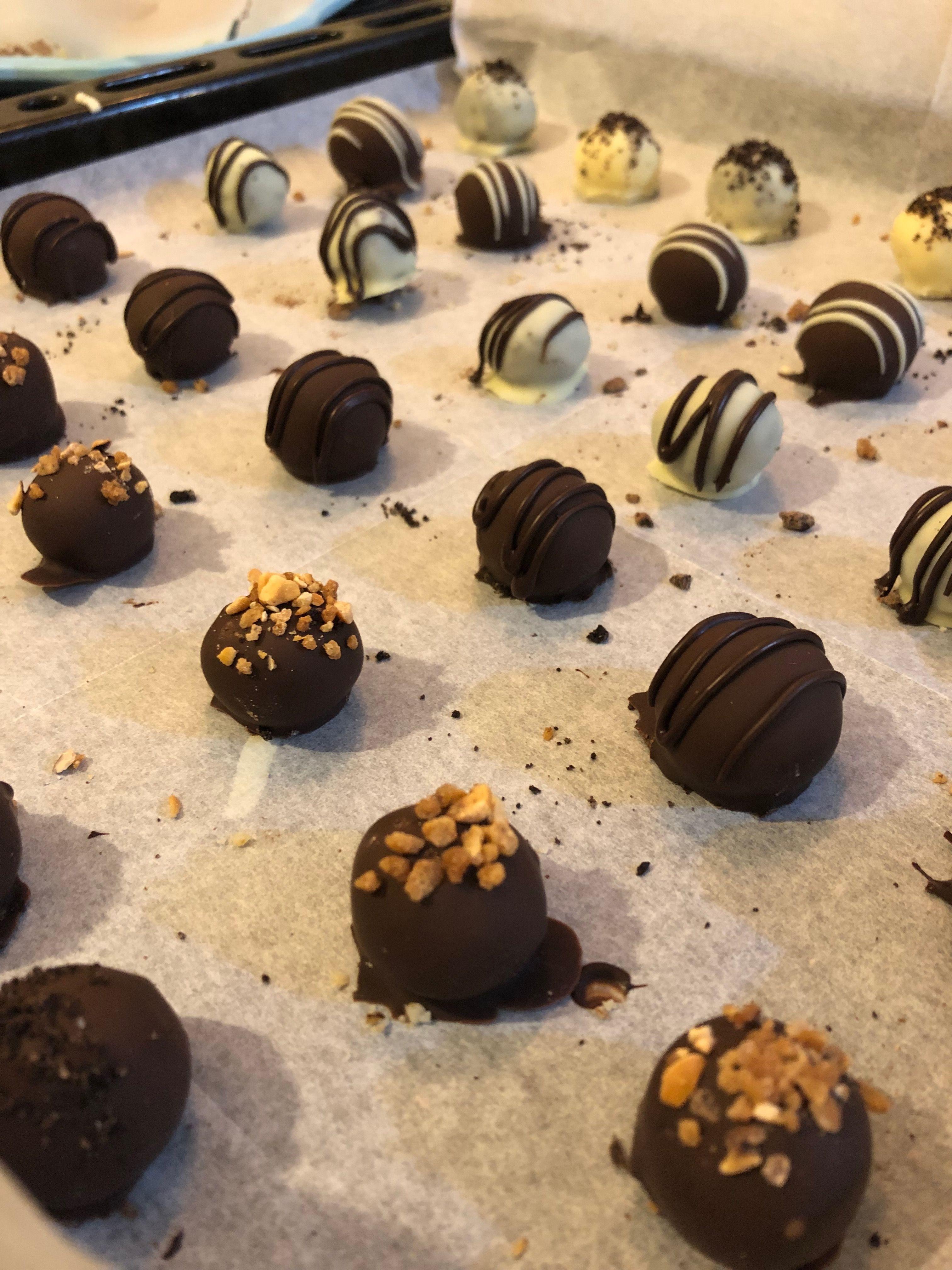 Decorated Chocolate Truffles Homemade Chocolate Truffles