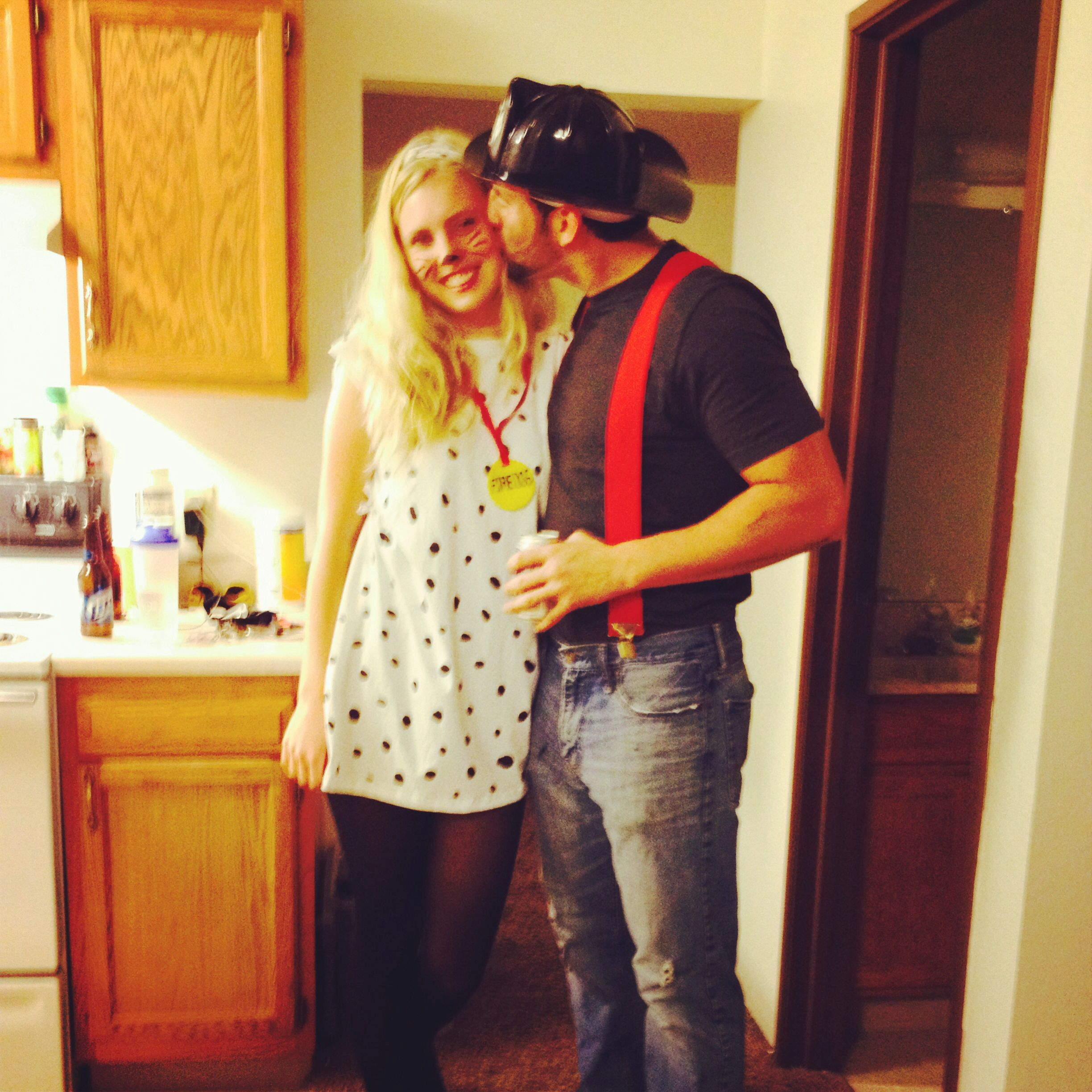 Couples Firefighter & Dalmatian Costume Couple halloween