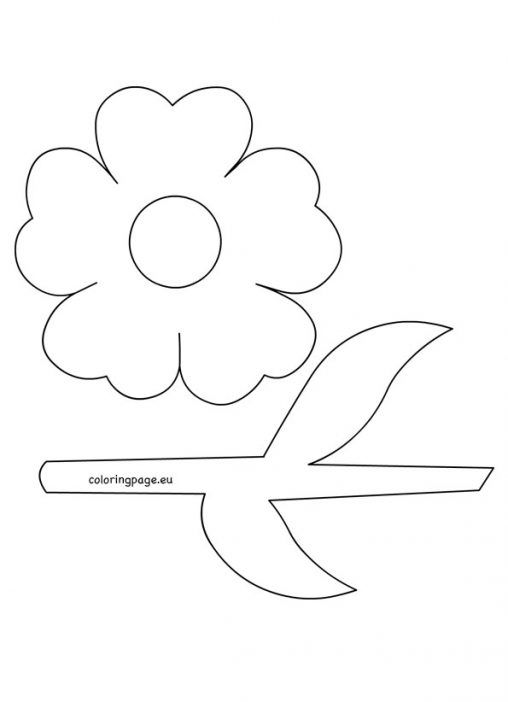 Flower Stem Template Applique Patterns Flowers Coloring Pages