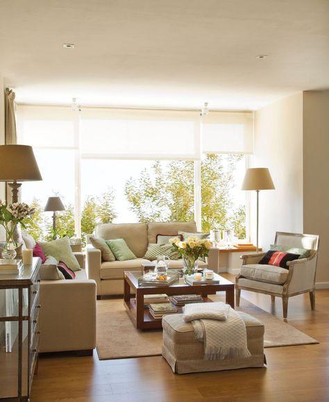 Salones con comedor renovados por el mueble home for Ventanales living comedor