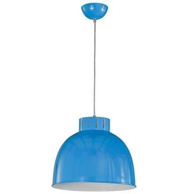 Lámpara de Techo Cúpula Campana Industrial Azul