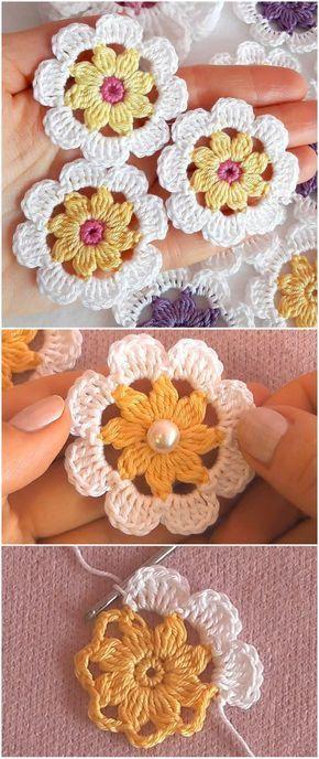 Photo of Crochet Flower Patterns For Beginners – Yarn & Hooks