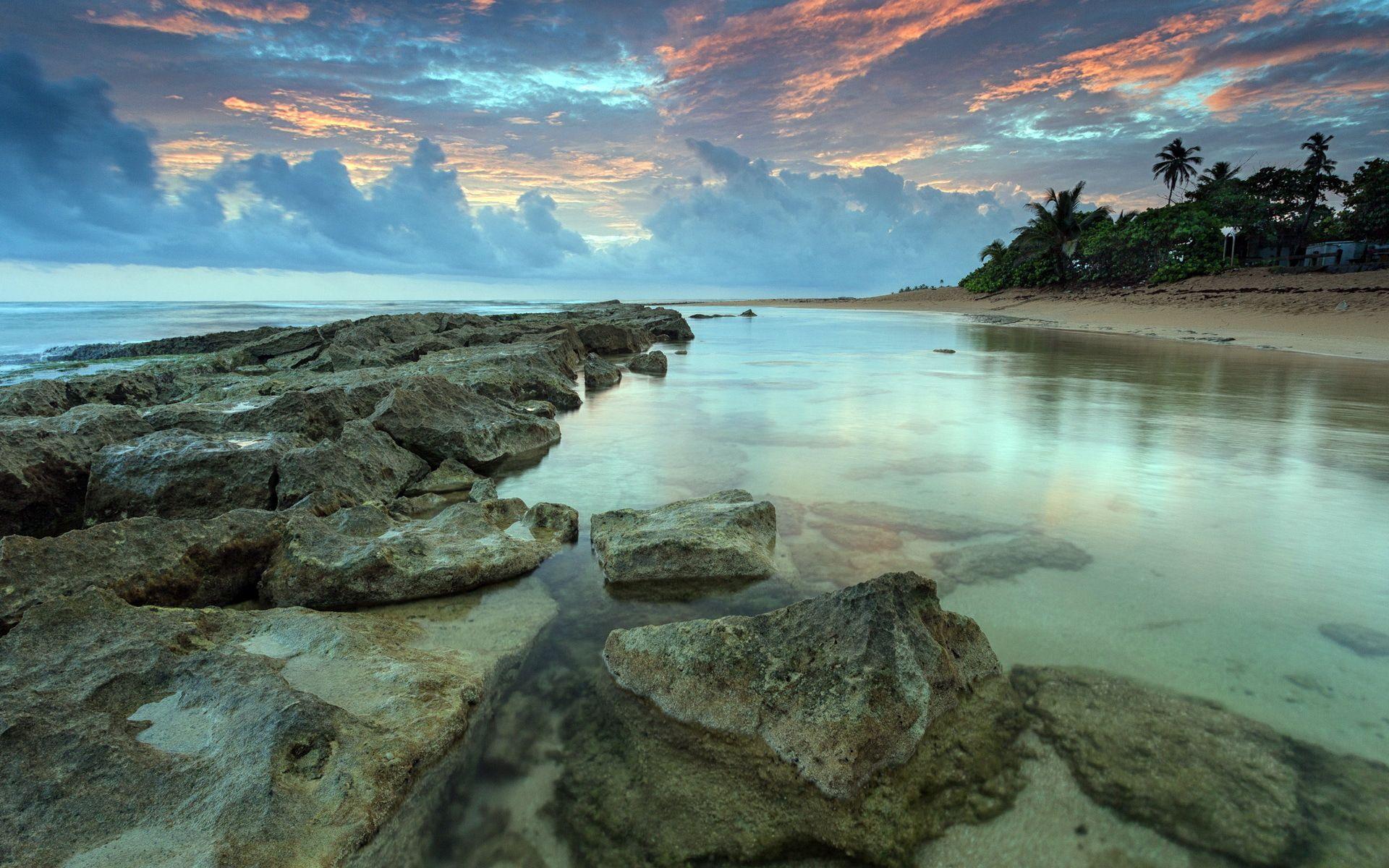 Beach Rocks Landscape Wonders Hd Nature Wallpapers