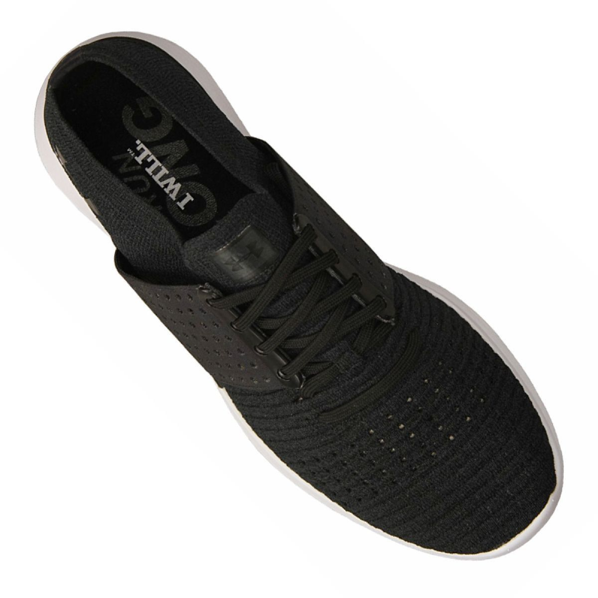 Buty Biegowe Under Armour Threadborne Slingwrap M 1295724 001 Czarne Under Armour All Black Sneakers Armour