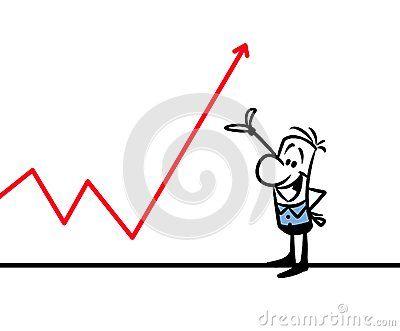 Character man graph success cartoon illustration