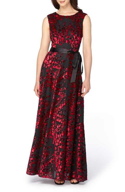 Tahari red lace dress