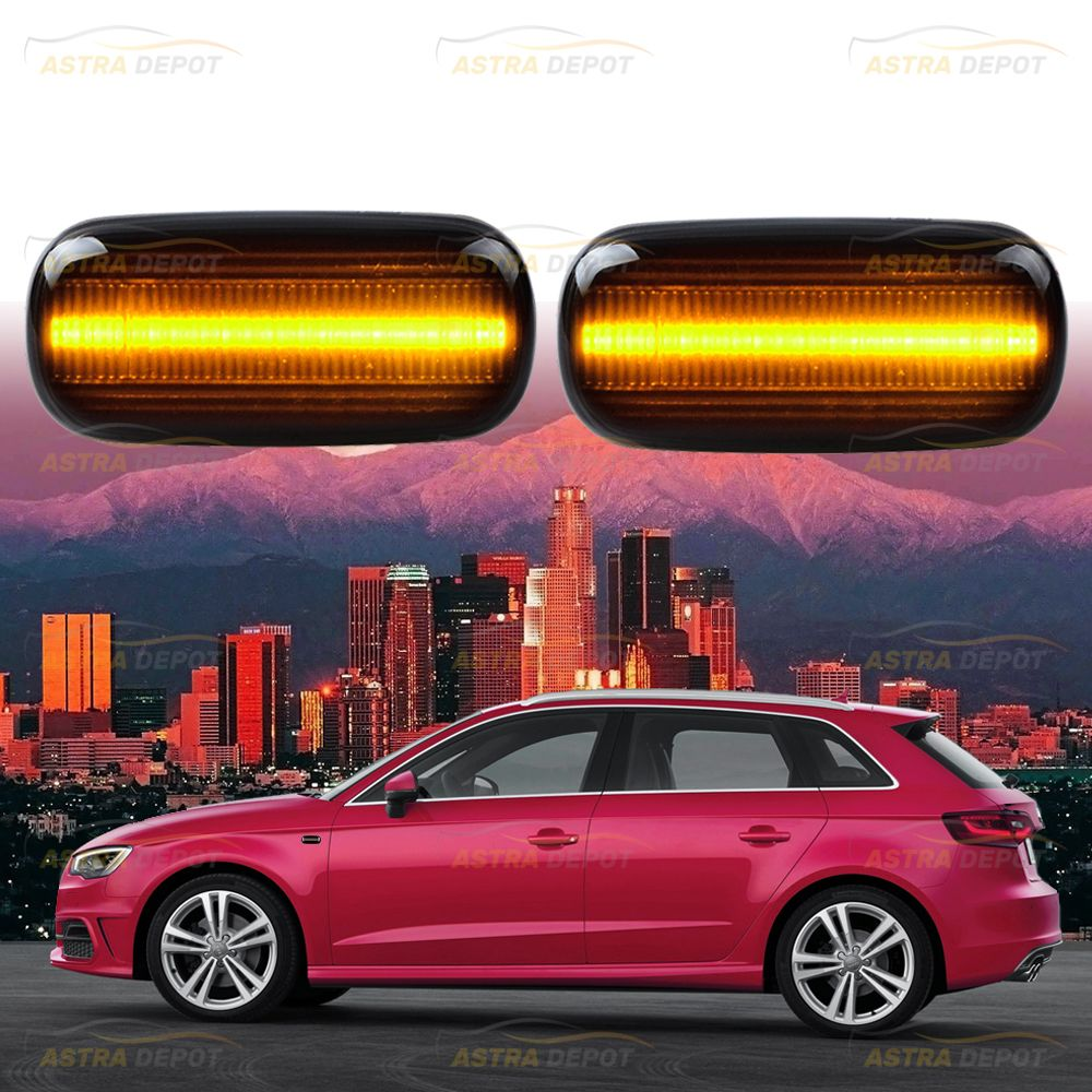 1 Pair Sequential LED Side Indicator Marker Light Compatible with Audi A4 S4 B6 RS4 B7 TT 8J Roadster A3 8P A6 S6 Allroad C5 A8 D3