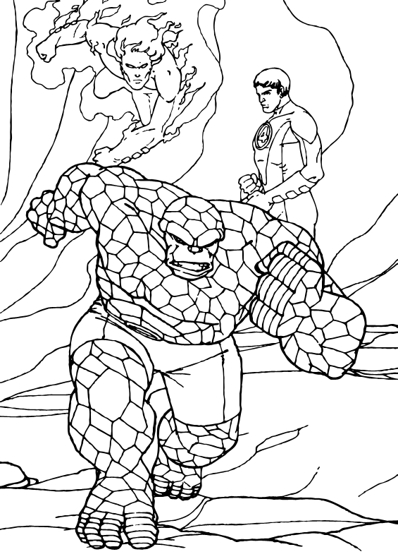 The Thing Coloring Pages The Thing Fighting For Justice Superhero Coloring Pages Superhero Coloring Unicorn Coloring Pages