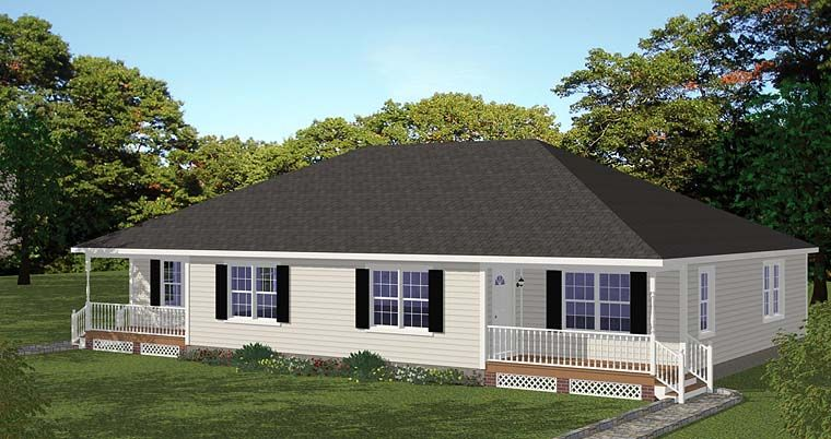 Multi Family Plan 40692 With 4 Bed 2 Bath Cottage Floor Plans Duplex House Plans House Plans
