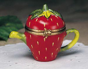 Limoges Strawberry Teapot Box