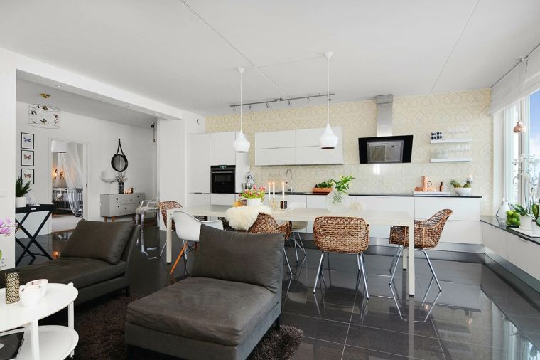 Cucina In Salotto.Come Arredare Cucina Salotto Open Space Con Mobili Della